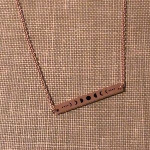 """Adjustable 16"""" Rose Gold Moon Phases Necklace"""
